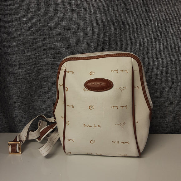 Marta Ponti Cream and Brown Shoulder Bag