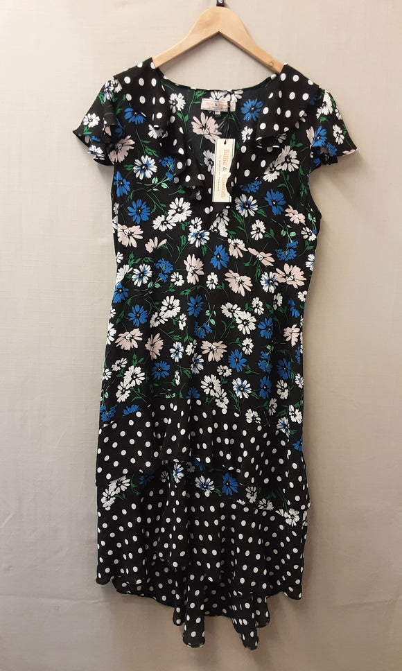 BNWT Blue Floral Billie & Blossom by Dorothy Perkins Dress Size 18