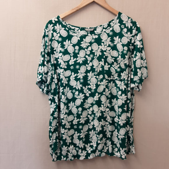 Green M&S Blouse Size 22