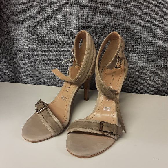 Beige Mint Velvet Heeled Sandals Size 4