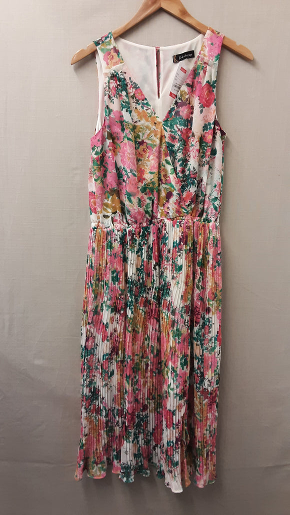 Pink Floral Kaleidoscope Dress Size 12