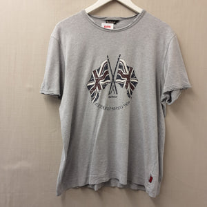 Grey Barbour T-Shirt Size L
