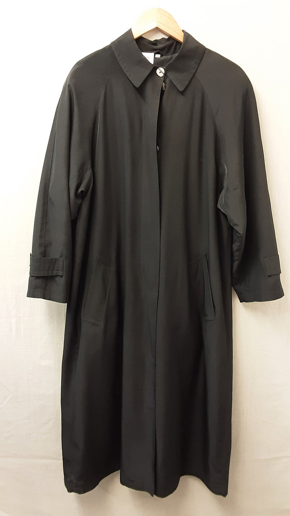 Black Rossetti Long Coat Size 12