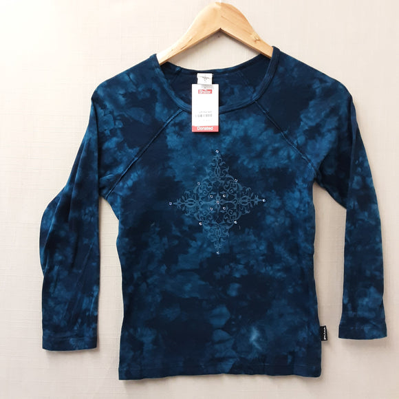 Blue Prana Long Sleeve Top Size S