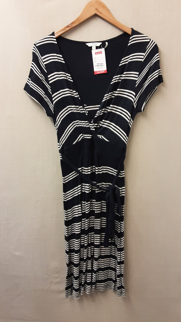 Black Stripe FatFace Dress Size 10