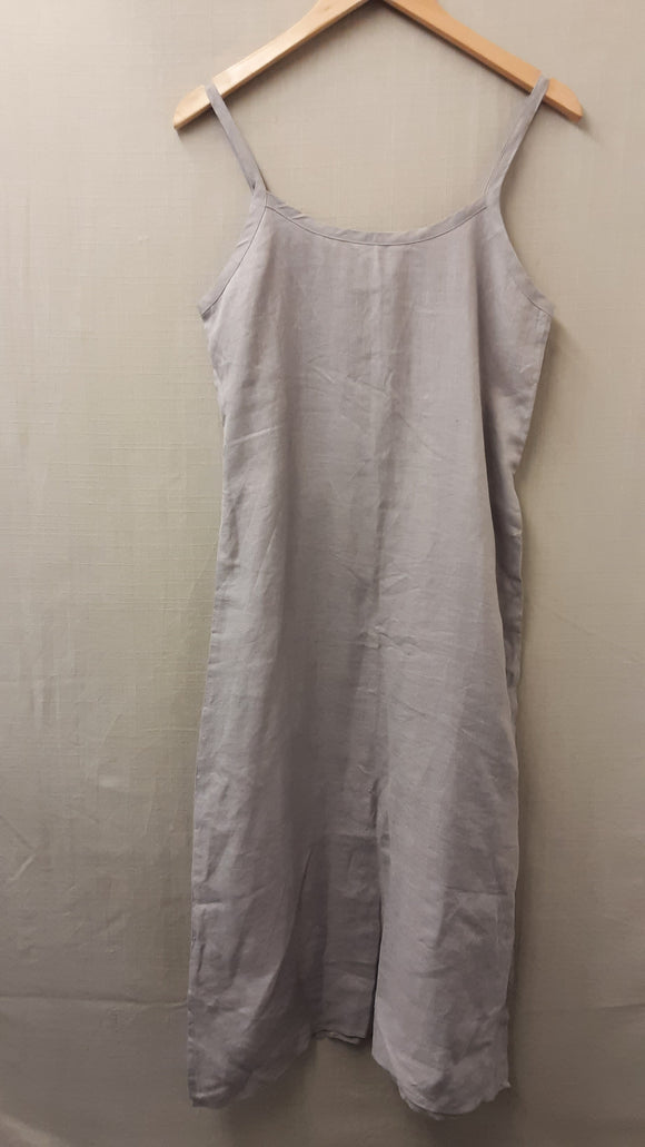Grey Descamps Linen Dress Size S