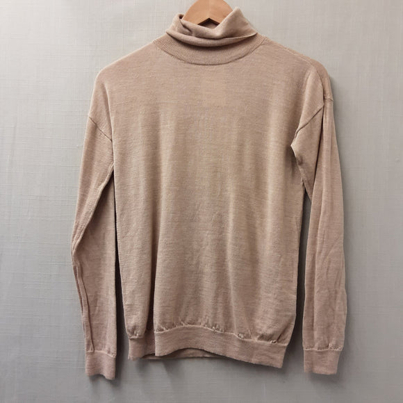 Beige Uniqlo Polo Neck Jumper Size XS