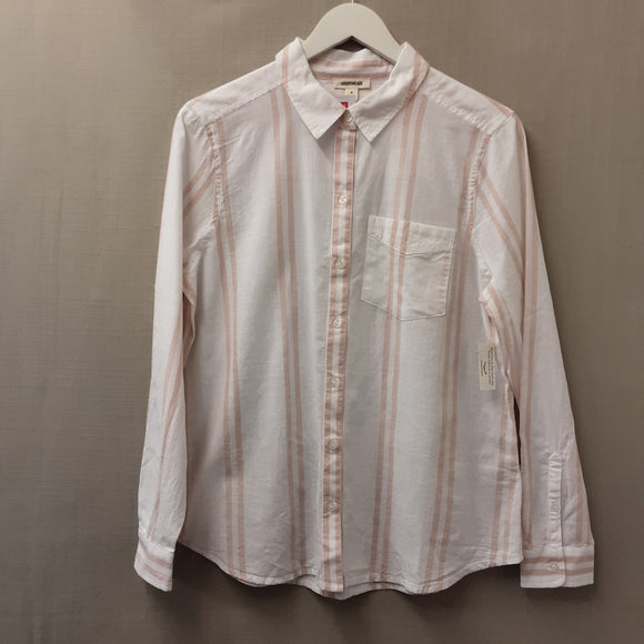 Peach Stripe Goodthreads Blouse Size M