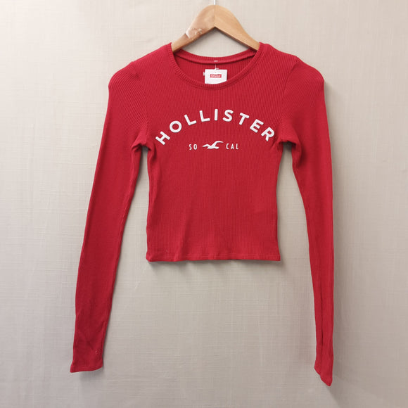 Red Hollister Long Sleeved Top Size XS