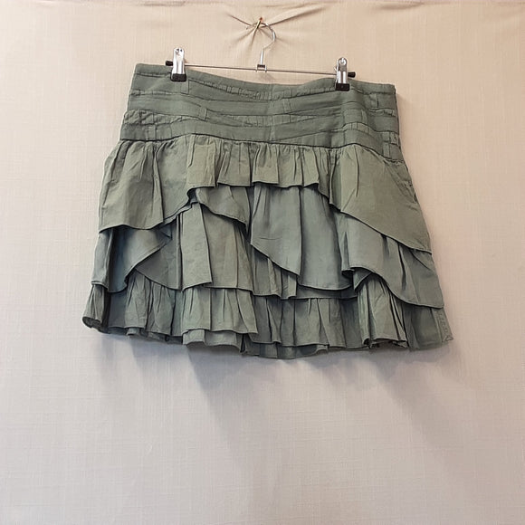 Warehouse Green Layered Skirt Size 12