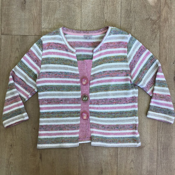 Per Una Pink and Green Cardigan Size 16