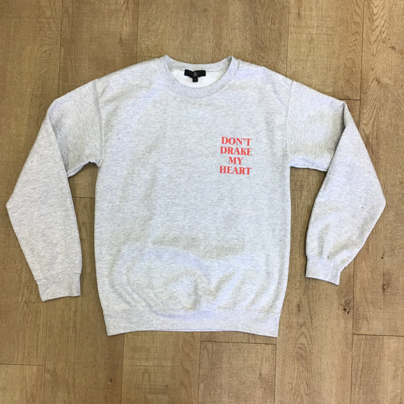 Missguided Don't Drake My Heart Grey Jumper Size S