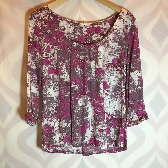 White Stuff Pink Cherry Blossom Top Size 10