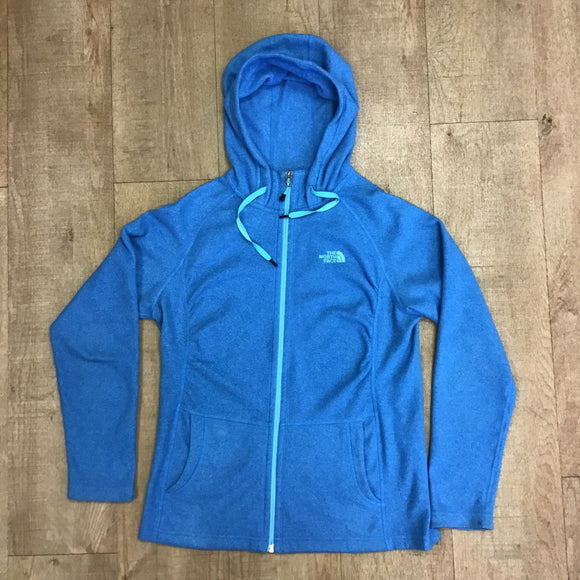North Face Turquoise Zip Up Fleece Size M/L
