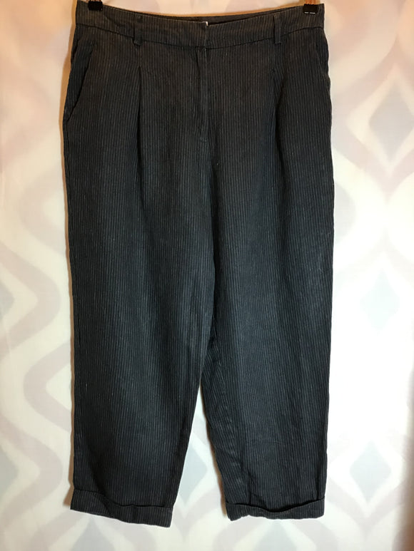 Toast 100% Linen Pinstripe Trousers Size 12