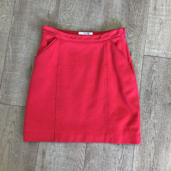 Boden Red Mini Skirt With Pockets Size 8R