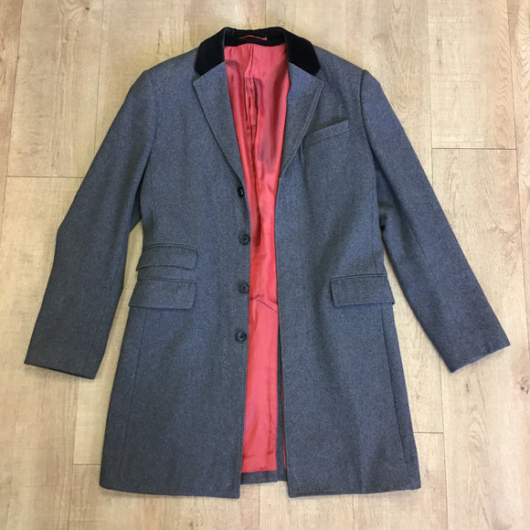 Holland Esquire Grey Wool Blend Coat Size L