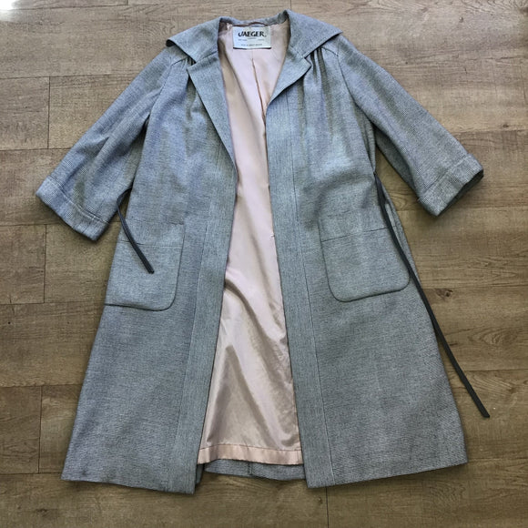 Vintage Jaeger Grey Long Coat Size 10