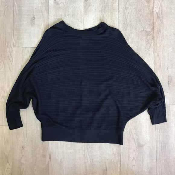 River Island Black Batwing Sleeve Jumper Size XS
