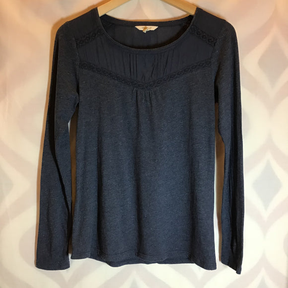 White Stuff Cotton Blend Blue Top Size 6