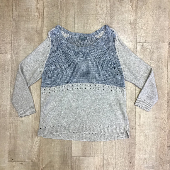 Anthropologie Needle Jumper With Silk and Linen Size L