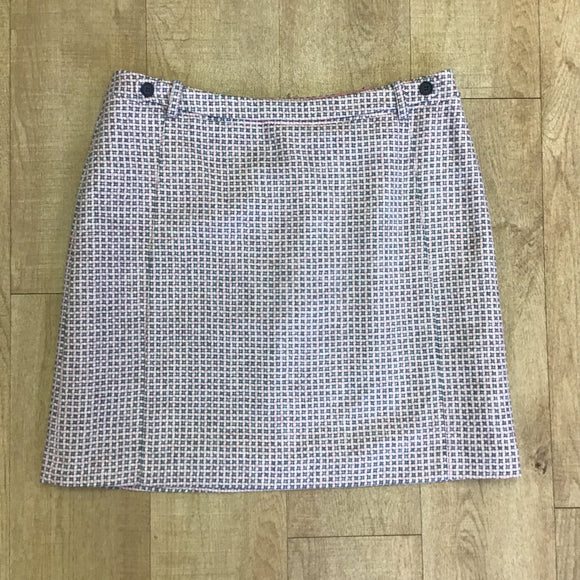 Laura Ashley Pink and Grey Wool Skirt Size 18