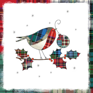 Tartan Tweetings Christmas Cards, pack of 10