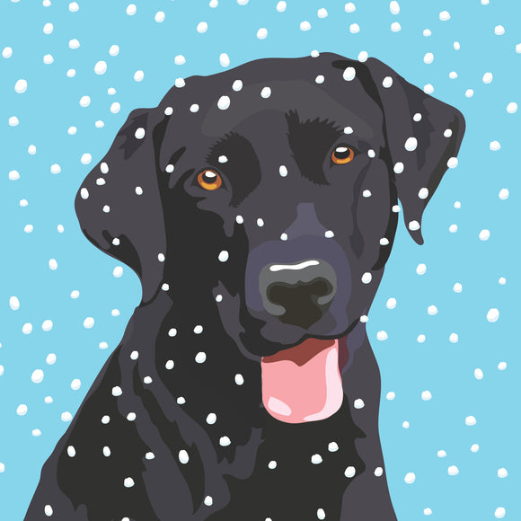 Black Labrador Christmas cards, pack of 10