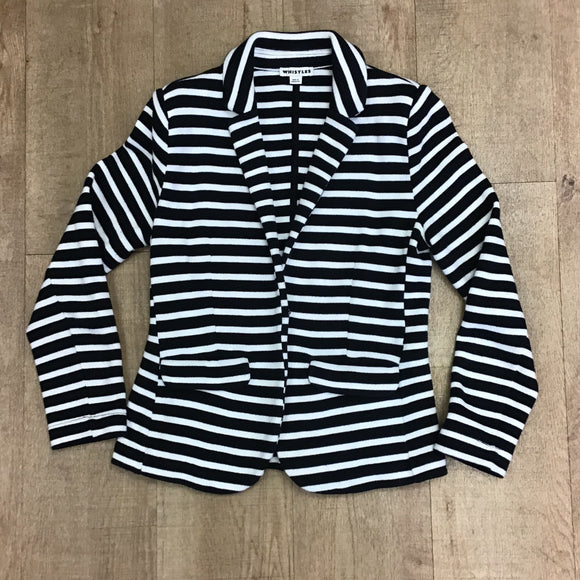 Whistles 100% Cotton Striped Jacket Size 8