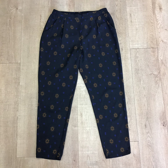 H&M Navy Trousers Size 12