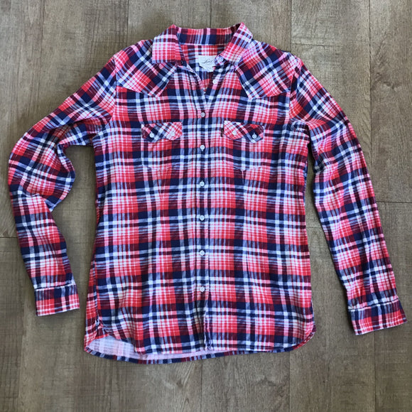 Levis Red and Blue Flannel Shirt Size M