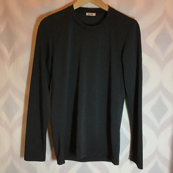 Acne Studios Long Sleeve Black Top Size L