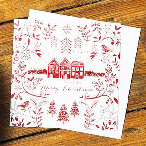 Christmas Houses Shelter Charity Christmas Cards