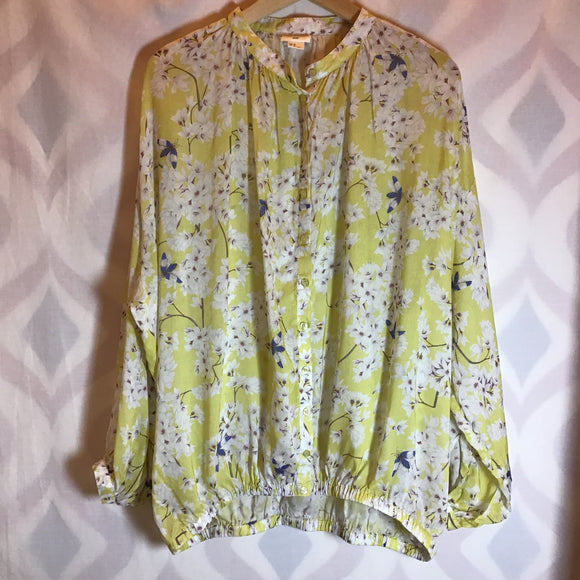 Anna Glover x H&M Yellow Blouse Size 12