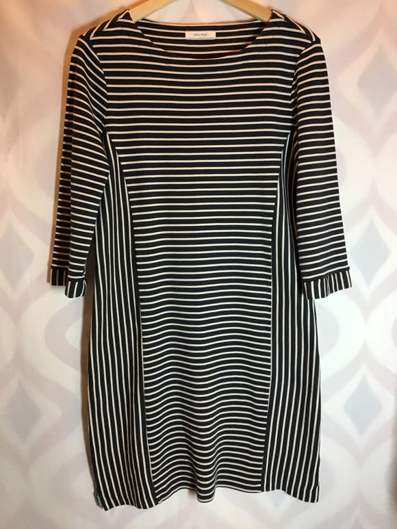 White Stuff 100% Cotton Blue and Cream Stripe Dress