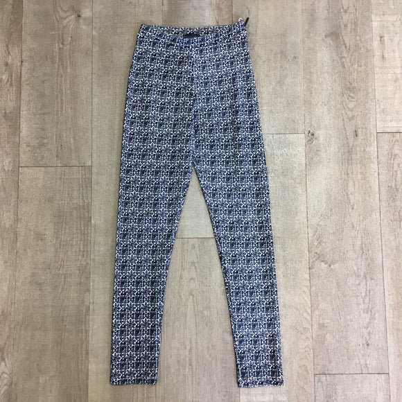 Topshop Black and White Skinny Trousers Size 8