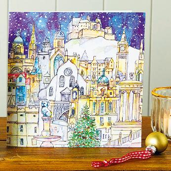 Edinburgh Landmarks Shelter Charity Christmas Cards