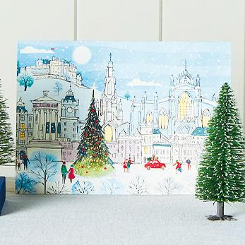 Edinburgh Landscape Scene Shelter Charity Christmas Cards