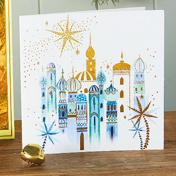 Golden Bethlehem Shelter Charity Christmas Cards