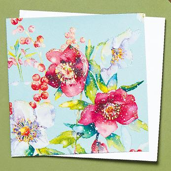 Hellebore and Berries Shelter Charity Christmas Cards
