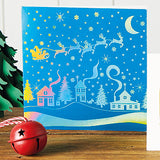 Holographic Skyline Christmas cards, pack of 10