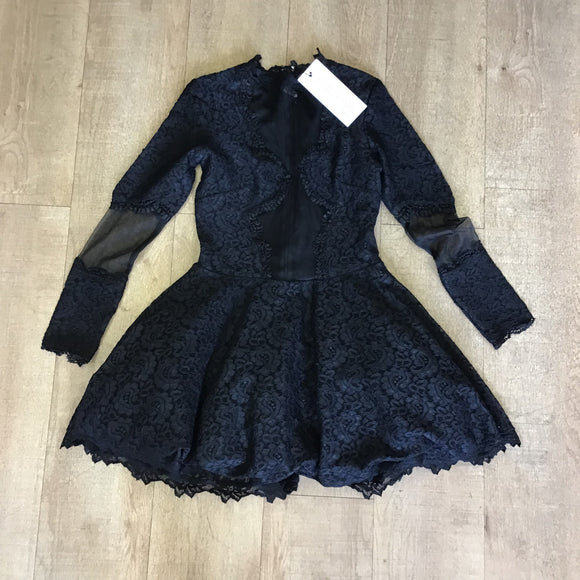BNWT Oh Polly Black Lace Dress Size 8