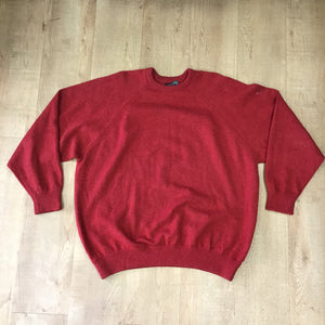 Lyle & Scott 100% Wool Red Jumper Size 2XL