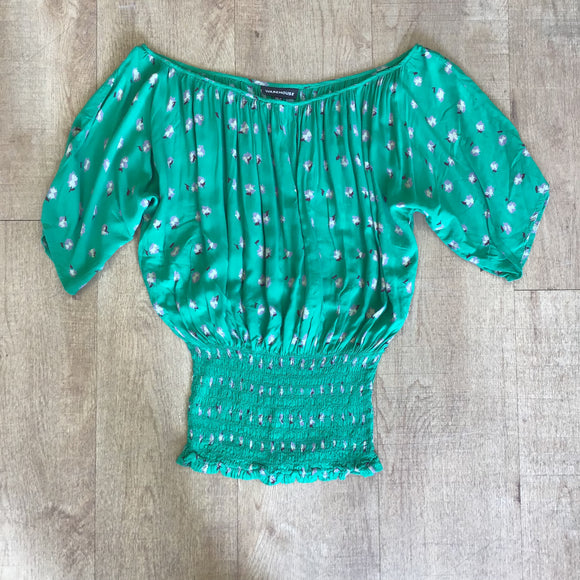 Warehouse Green Top Size 6