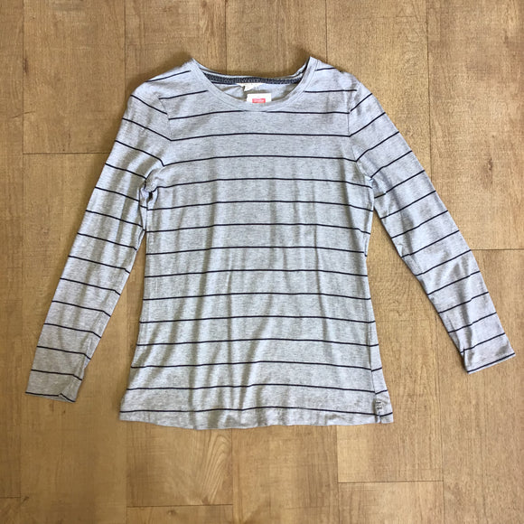 White Stuff Grey Pima Cotton Modal Top Size 12