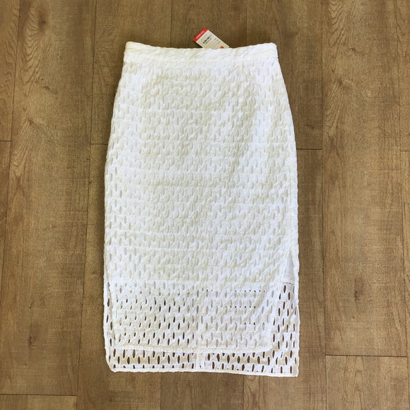 Whistles 100% Cotton White Skirt Size 12