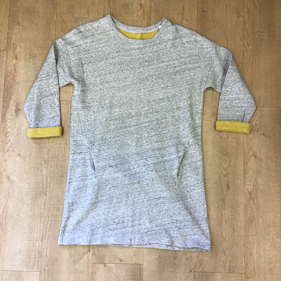 Toast 100% Cotton Grey Dress Size 12