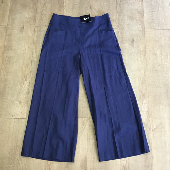 BNWT Very Navy Linen Blend Trousers Size 12