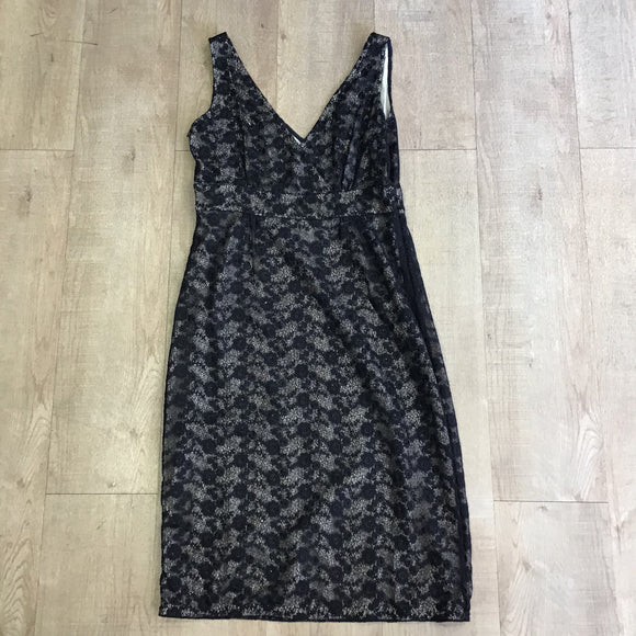 L.K. Bennett Silk Lined Lace Dress Size 12
