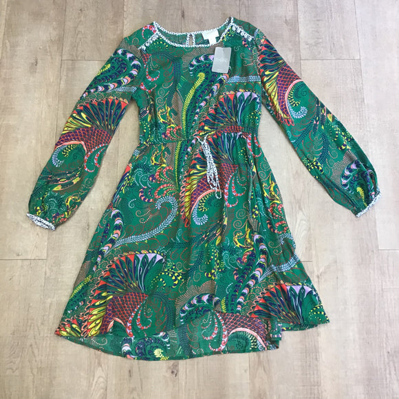 BNWT Maeve by Anthropologie Green Dress Size 12